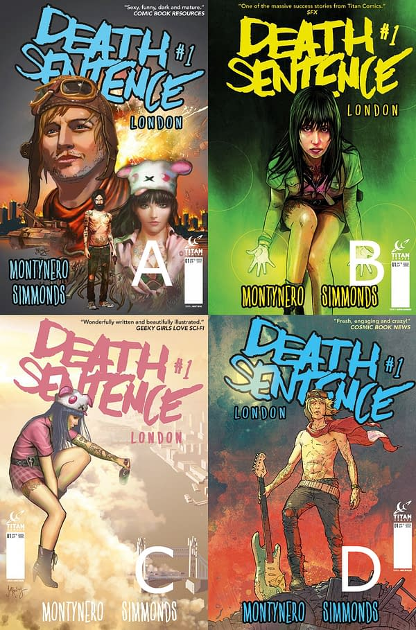 Figure 1 Variant Covers to Death Sentence London 1 out June 10th