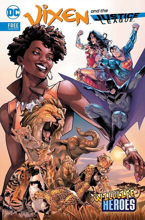 San Diego Zoo Joins In the Comics Exclusives With Vixen And The Justice League: Wildlife Heroes