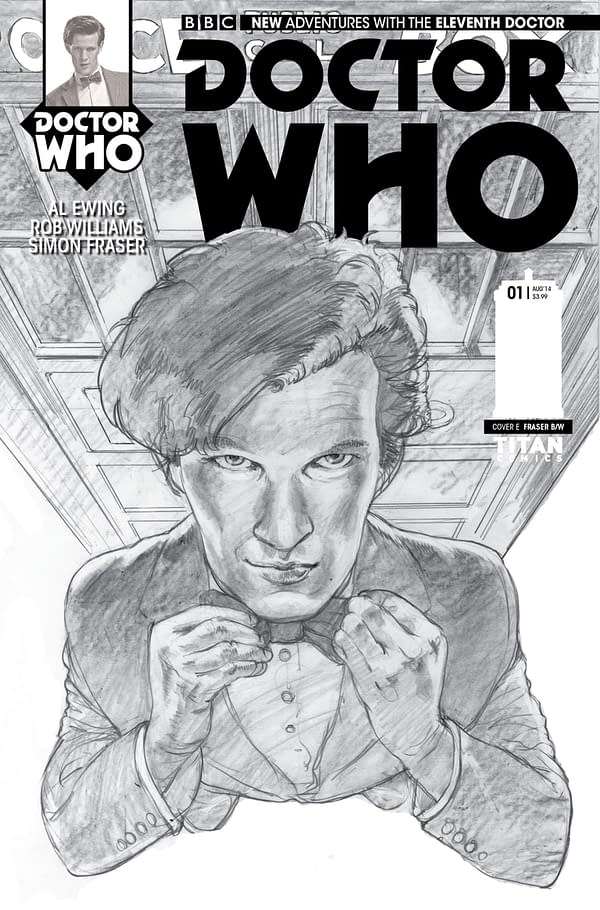THE ELEVENTH DOCTOR #1 - B_W COVER