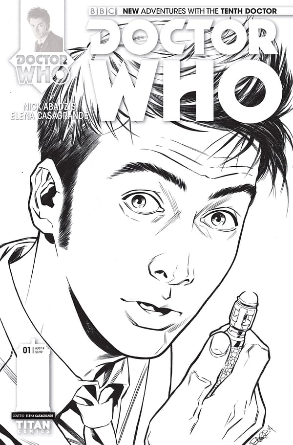 THE TENTH DOCTOR #1 - B_W COVER