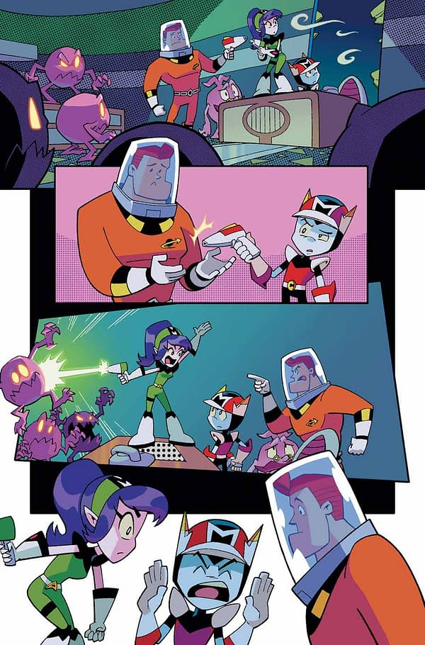 Cosmo #2 art by Tracey Yardley and Matt Herms