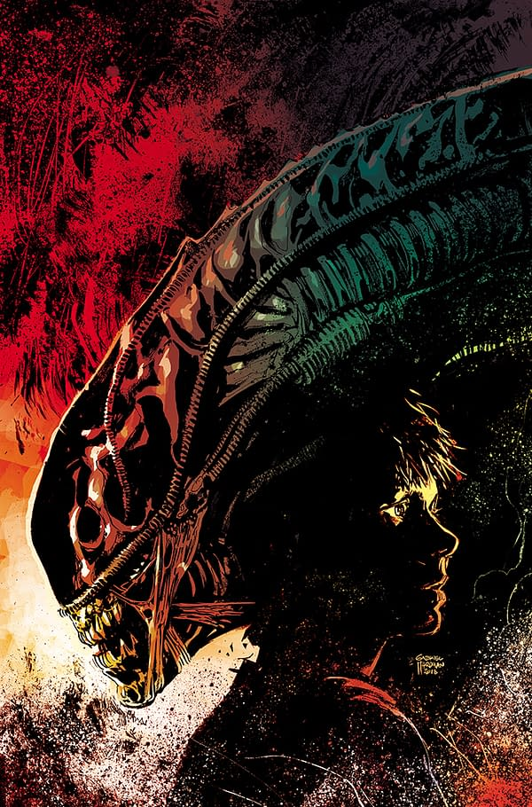 Exclusive First Look at Gabriel Hardman and Carlos D'Anda's Aliens: Dust to Dust #3 Covers