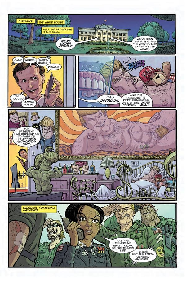 The Leviathan Preview by John Layman and Nick Pitarra from C2E2, Up to Donald Trump…