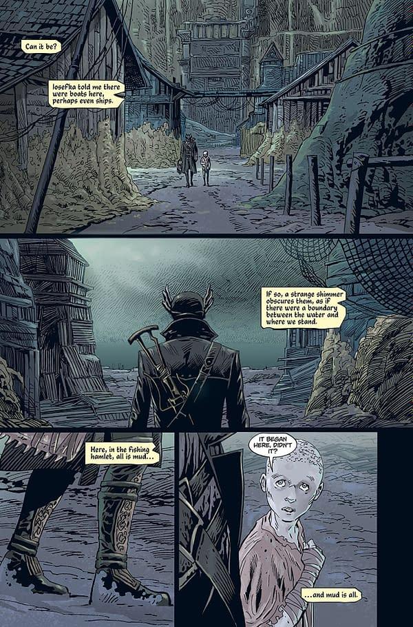 Bloodborne #4 art by Piotr Kowalski and Brad Simpson