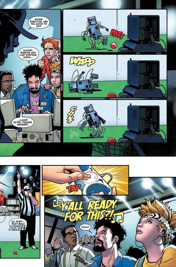 Advance Review: Tony Stark: Iron Man #1 by Dan Slott and Valerie Schiti – Will Tony Stark Become Self-Aware As Well?