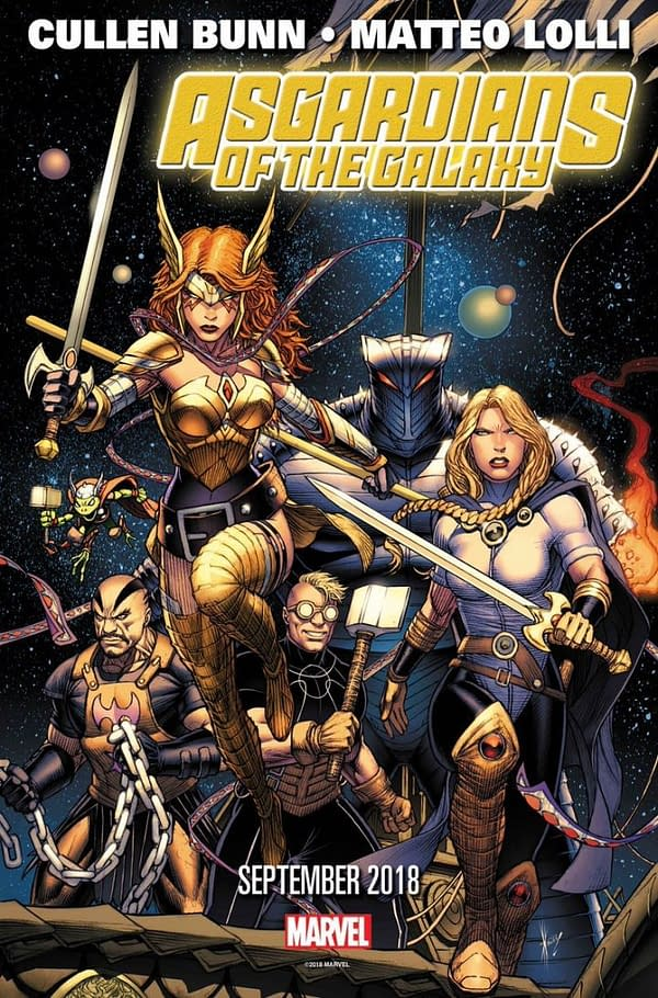 Angela, Valkyrie, Thunderstrike, and Throg Lead Marvel's New Cosmic Team, the Asgardians of the Galaxy