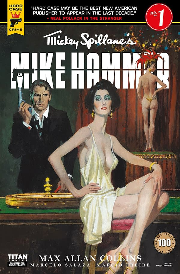 Mike Hammer #1 cover by Marcelo Salaza