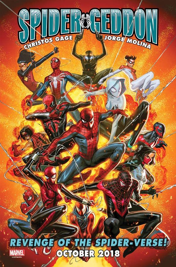 """Dan Slott Returns for Spider-Geddon in October, and He's Out for """"Revenge"""""""