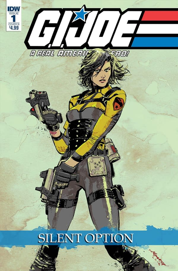 Snake Eyes Gets Her Own Mini-Series in G.I. Joe Spinoff 'Silent Option' from Larry Hama and Netho Diaz