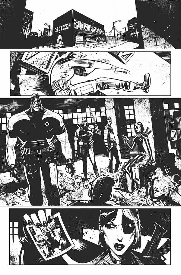 5 Interior Pages from Dylan Burnett for X-Force #1