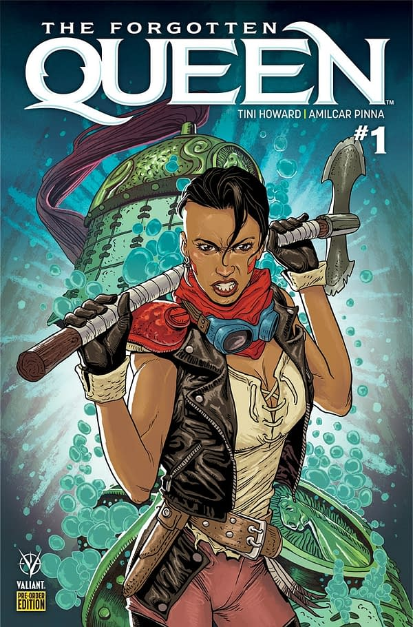 Valiant's The Forgotten Queen Gets a Pre-Order Bundle with Amilcar Pinna Variants
