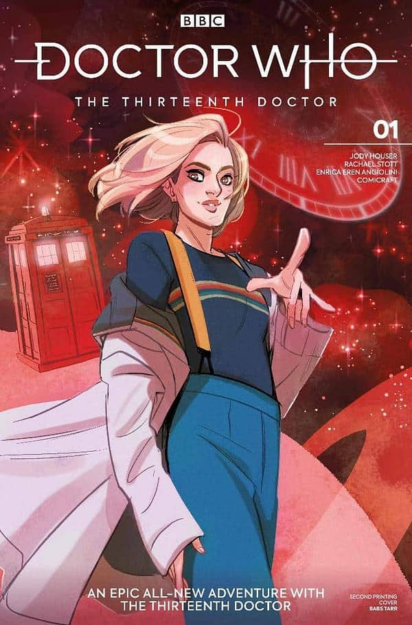 Doctor Who: The Thirteenth Doctor #1 2nd Printing Flips From Blue to Red