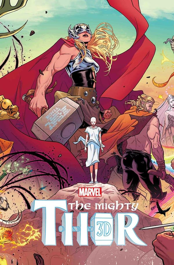 Aaron and Dauterman's Mighty Thor #1 Reprinted in 3D and a Polybag for April