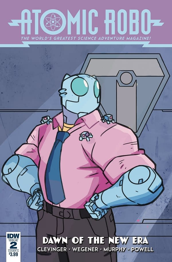Robot Bonding and Adventure in Atomic Robo: Dawn of the New Era #2