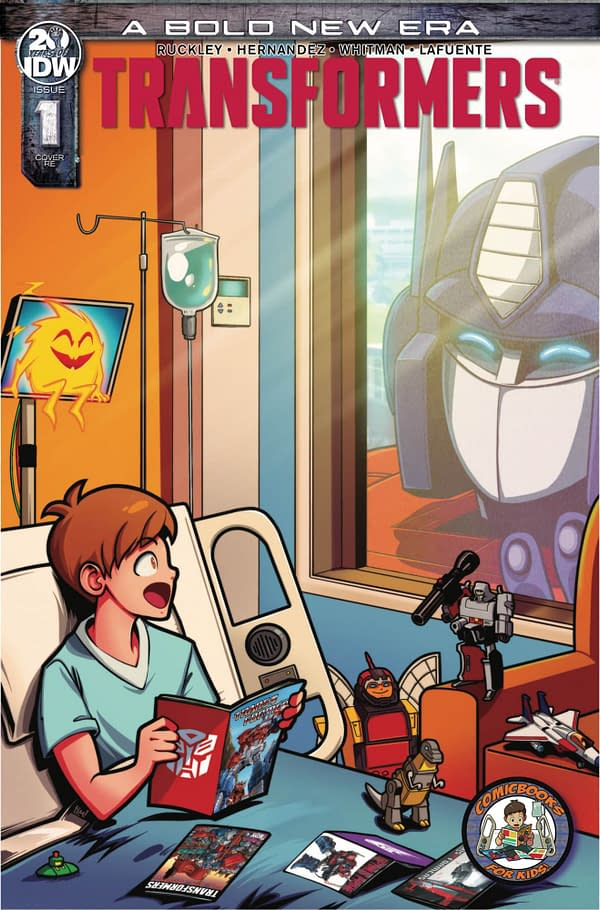 Optimus Prime Pays a Surprise Visit in ComicBooks For Kids! C2E2 Transformers #1 Exclusive