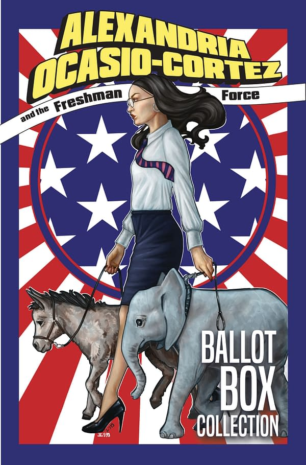 The cover to an Alexandria Ocasio-Cortez comic book. AOC is also known for her work in the United States House of Representatives.