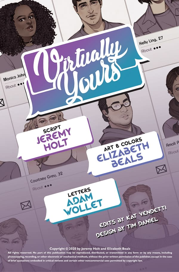 Dating Apps Get a Graphic Novel With Virtually Yours on ComiXology.