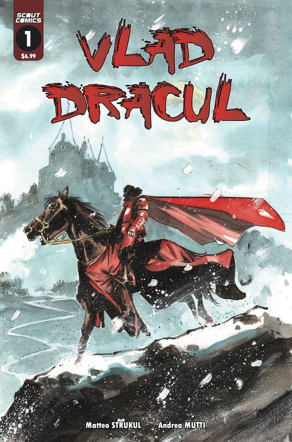 Vlad Dracul #1 cover, as Strukul and Mutti set out to reinvent Dracula. Credit: Scout Comics.
