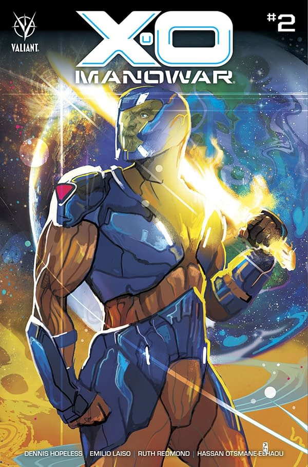 X-O Manowar #2 cover. Credit: Valiant