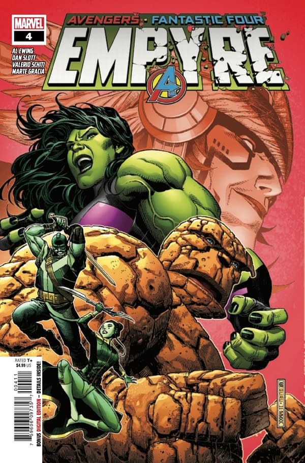 Empyre #4 contains a big Hulkling reveal. Credit: Marvel Comics