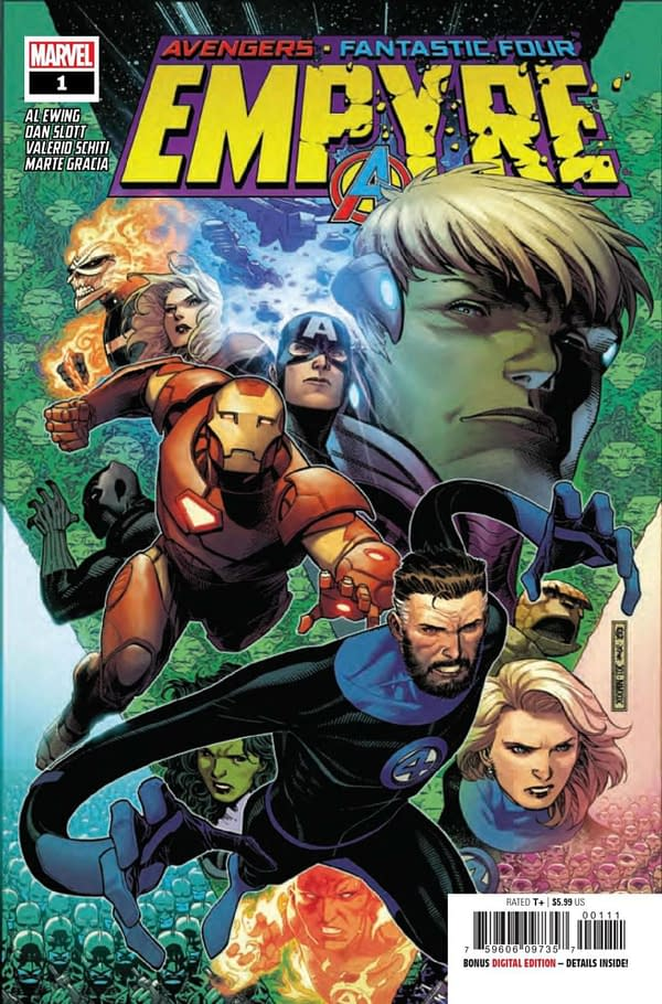 Empyre sees Al Ewing unite the Avengers and Fantastic Four for a global invasion. Credit: Marvel
