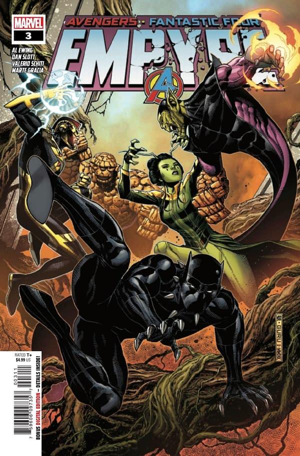 Empyre #3 cover spotlights Black Panther. Credit: Marvel.