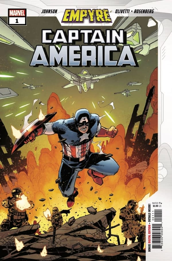 Empyre Captain America #1 cover. Credit: Marvel Comics.