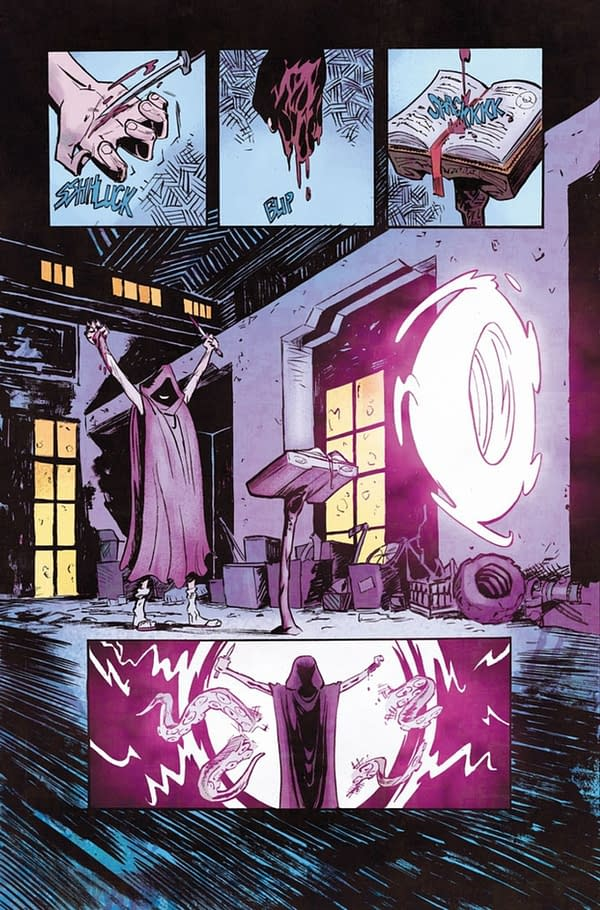 Ninja Nuns #1 page. Credit: Bob Frantz's Kickstarter