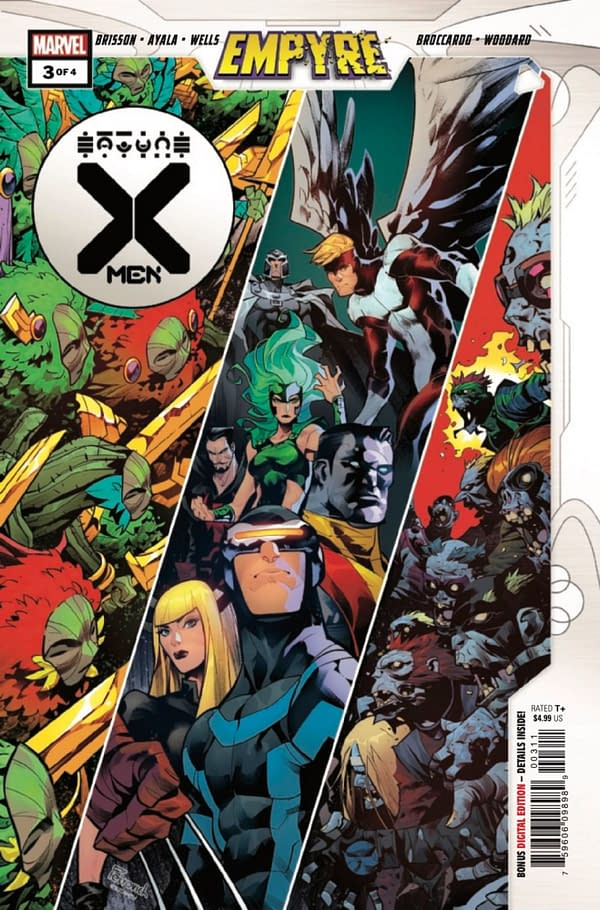 Empyre: X-Men #3 brings on Vita Ayala, Zeb Wells, & Ed Brisson as writers. Credit: Marvel Comics