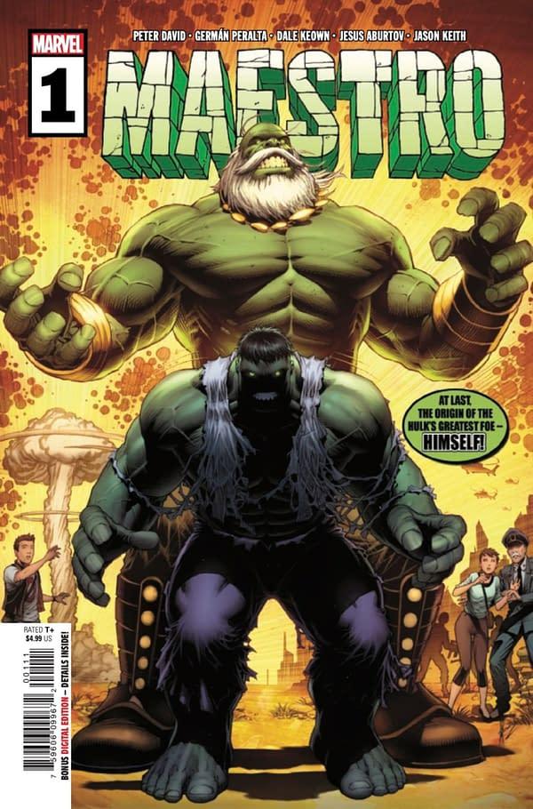 Peter David returns to Hulk comics with Maestro #1. Credit: Marvel