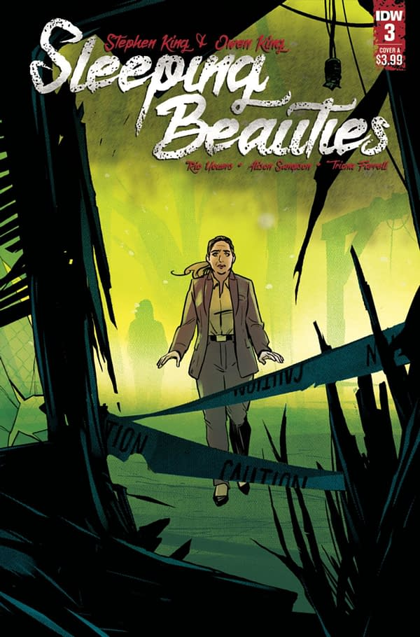 Sleeping Beauties #3 continues to adapt the novel by Stephen and Owen King. Credit: IDW Publishing