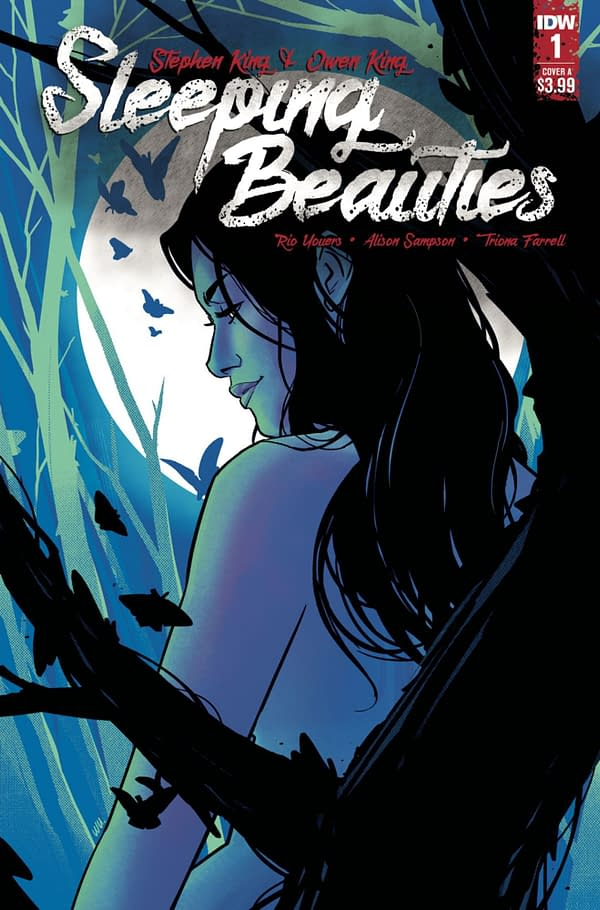 Sleeping Beauties #1 cover, adapting the novel by Owen King and Stephen King. Credit: IDW Publishing