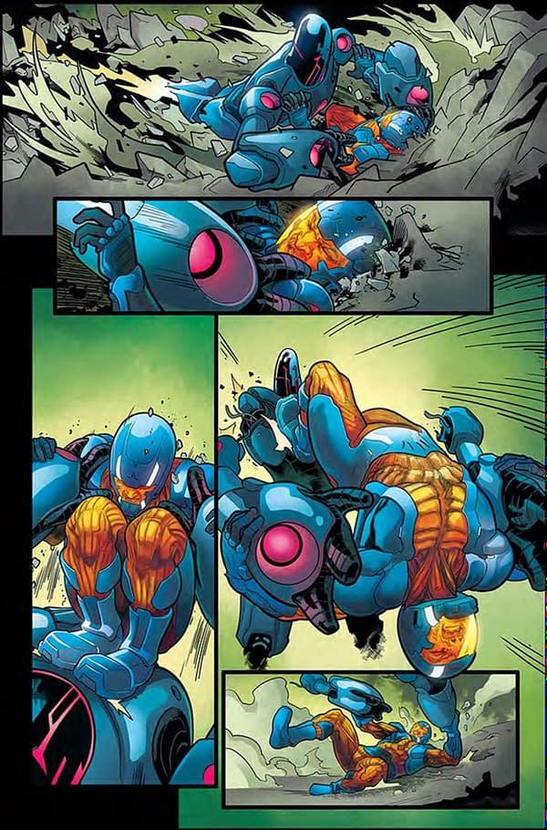 X-O Manowar #2 page. Credit: Valiant
