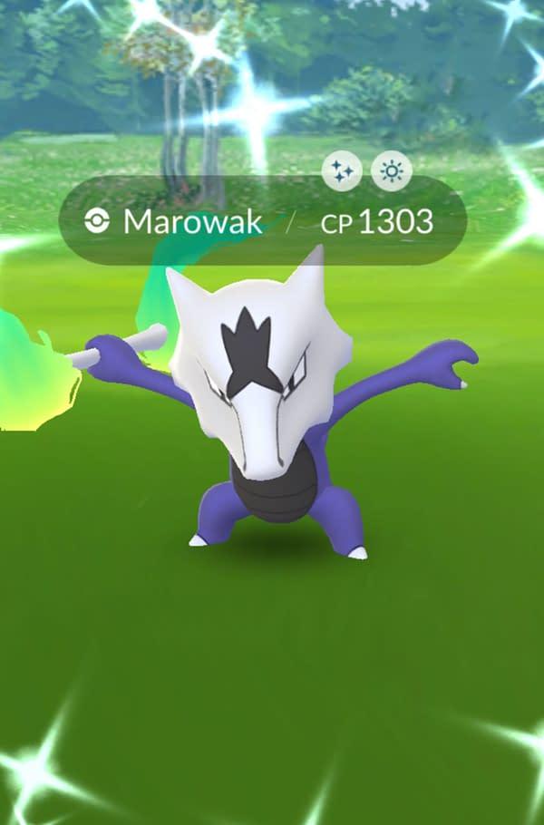Shiny Alolan Marowak in Pokémon GO. Credit: Niantic