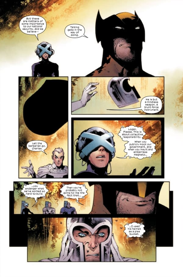 Confirmed: Wolverine Used Magneto's Helmet Is A Urinal