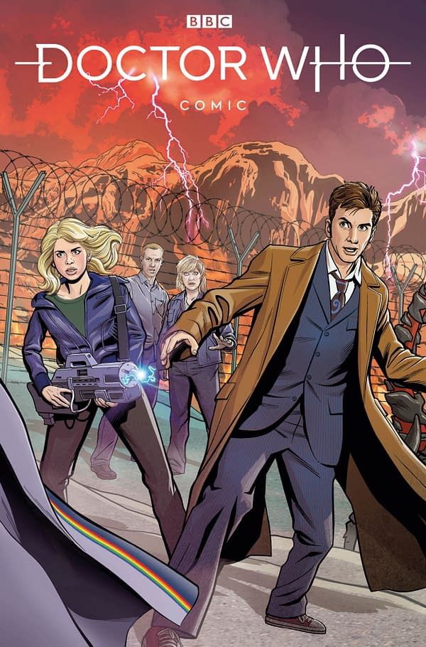 Christopher Jones' Connecting Covers For Doctor Who Comic #1-4