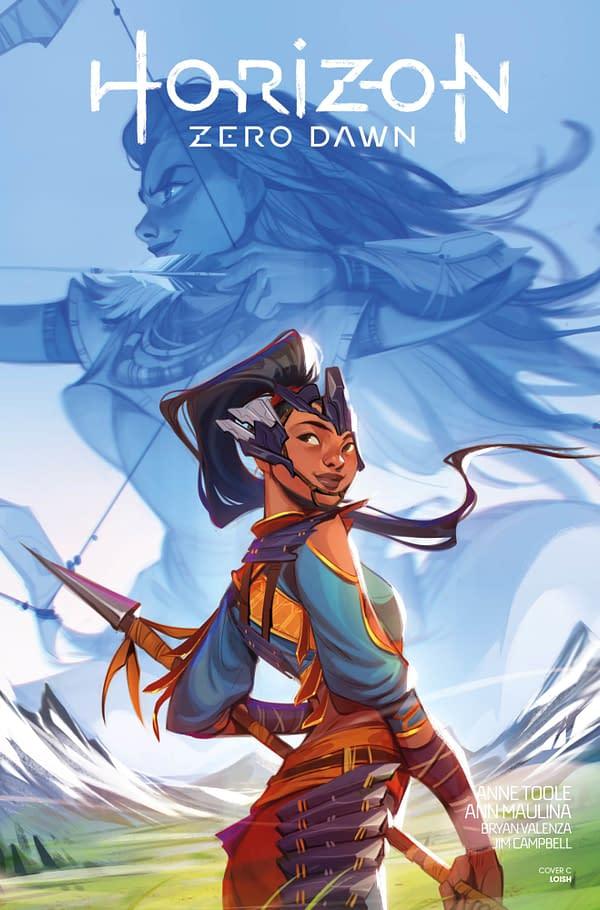 Horizon Zero Dawn #2 cover. Credit: Titan Comics