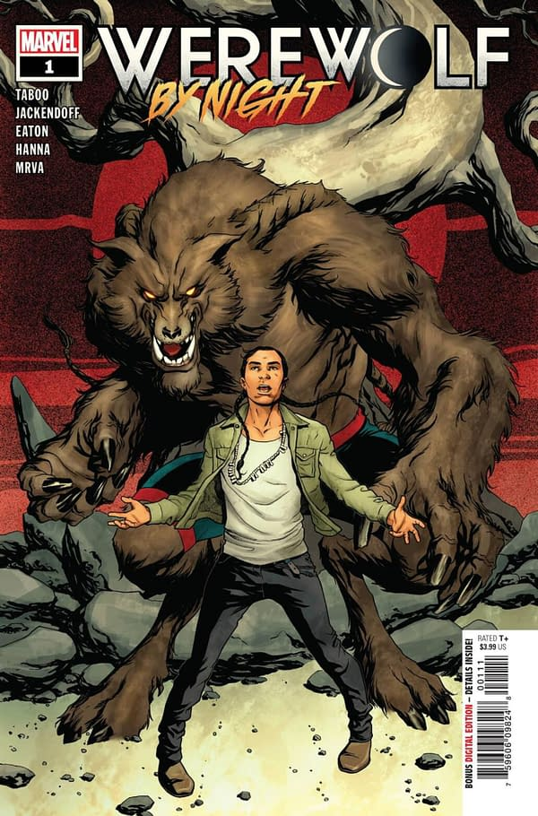 Werewolf of Night #1 cover, of the new comic co-written by Taboo of the Black Eyed Peas. Credit: Marvel Comics