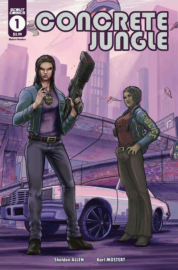 Concrete Jungle #1 cover. Credit: Scout Comics