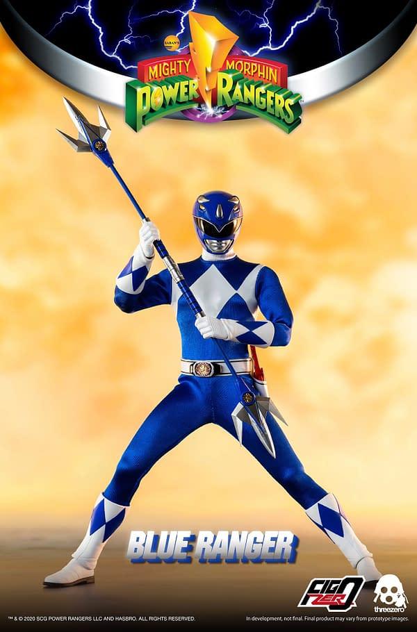Power Ranger Blue Ranger Brings the Brains to threezero