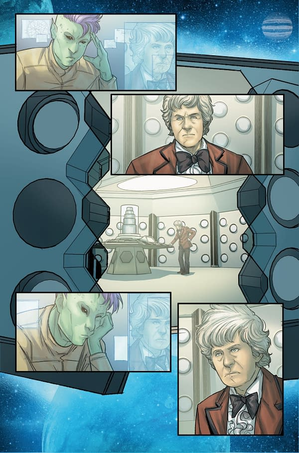 Missy Meets The Third Doctor And The First Master In New Doctor Who