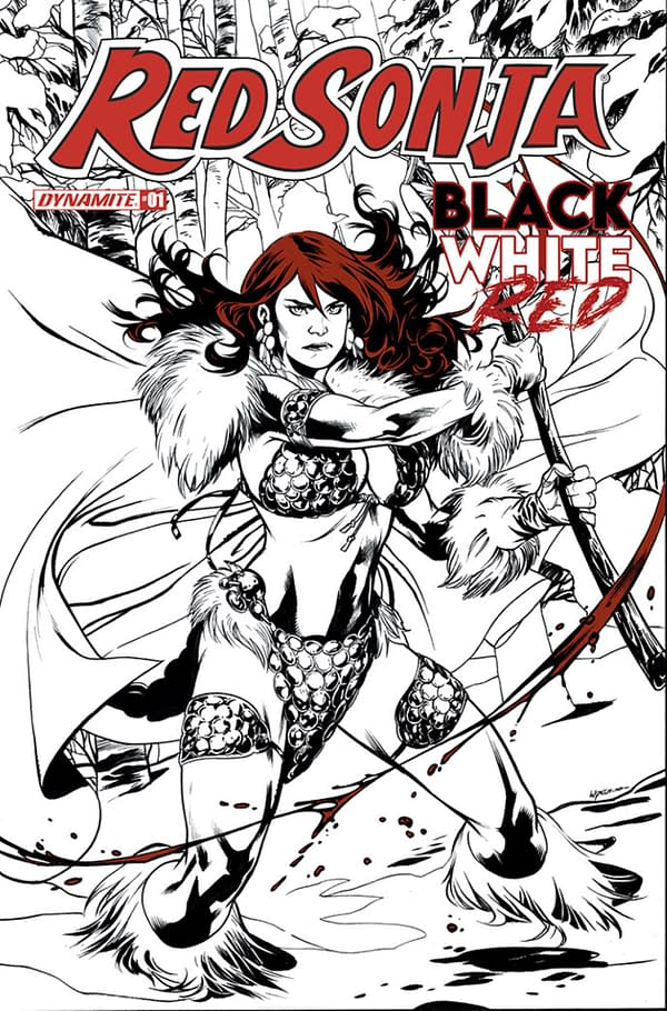 Dynamite Jumps On The Black, White And Red Bandwagon With Red Sonja