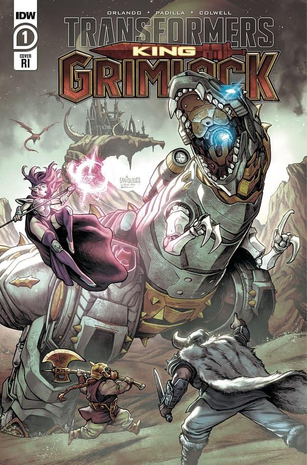 Transformers King Grimlock Issue 1 RI Cover