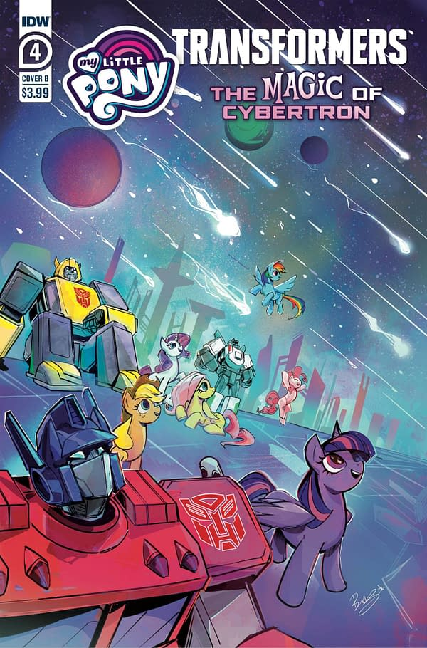 Cover image for MLP TRANSFORMERS II #4 (OF 4) CVR B BETHANY MCGUIRE-SMITH