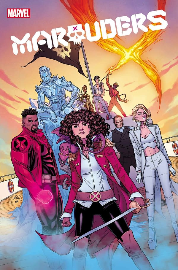 The cover to Marauders #27