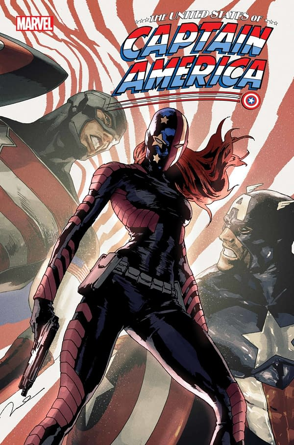 Cover image for JUL210700 UNITED STATES OF CAPTAIN AMERICA #4 (OF 5), by (W) Christopher Cantwell, Alyssa Wong (A) Ron Lim, Jodi Nishijima (CA) Gerald Parel, in stores Wednesday, September 22, 2021 from MARVEL COMICS