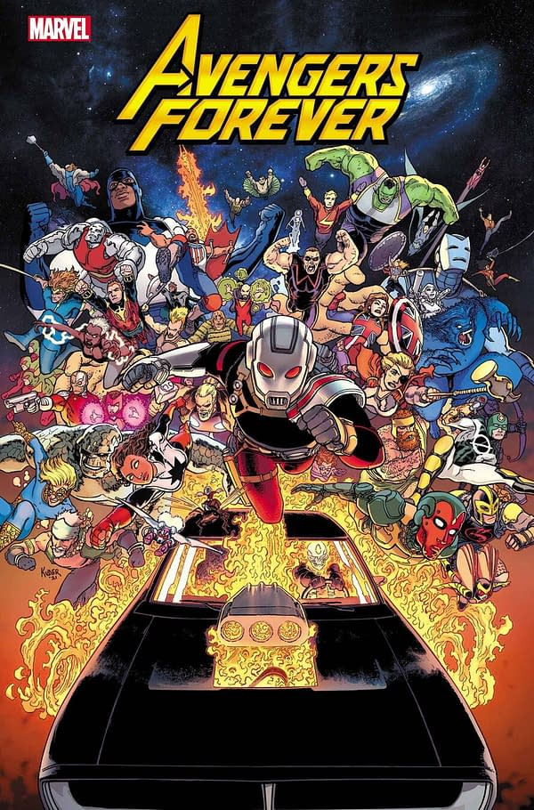 Avengers Forever #1 cover by Aaron Kuder