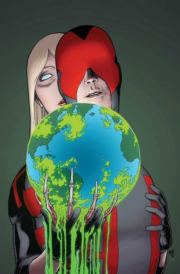 Death of X #3 cover by Aaron Kuder and Morry Hollowell