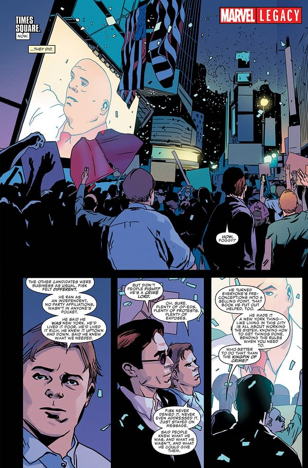 No Political Parallels Sought As The Kingpin Becomes Mayor Of New York In Daredevil – And Across The Marvel Universe