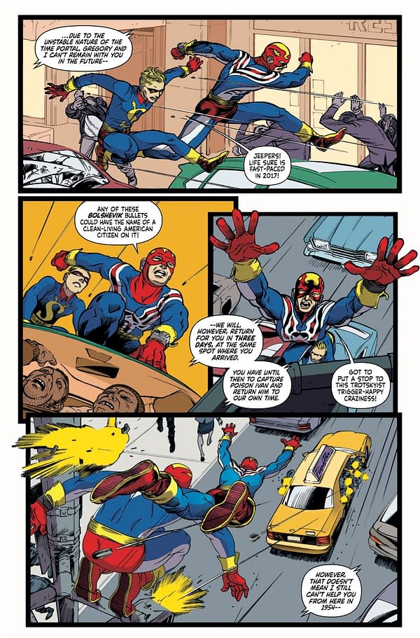 Fighting American #1 art by Duke Mighten and Tracy Bailey
